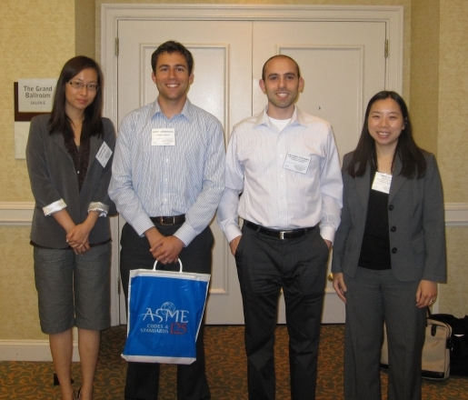2010 ASME FC Conference - Left to Right: Jingwen Wang, James Hinebaugh, Zach Fishman, Aimy Bazylak.